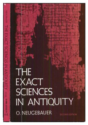 The exact sciences in antiquity by Otto Neugebauer