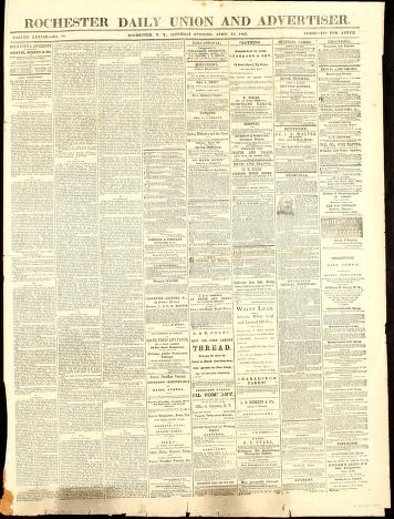Rochester daily union and advertiser by Curtis, Morey & Co